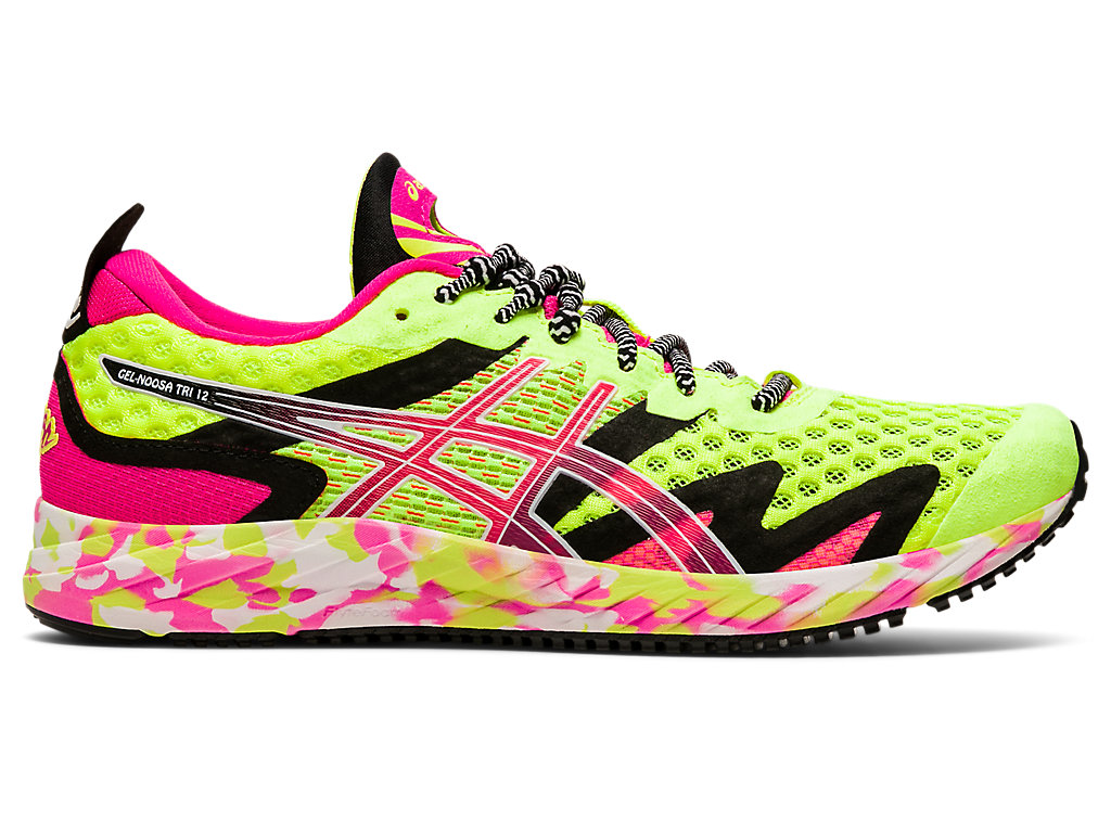 Women's GEL-NOOSA TRI 12 | Safety Yellow/Pink Glo | Running Shoes ...