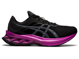 ASICS Novablast? Black / Digital Grape Mujer