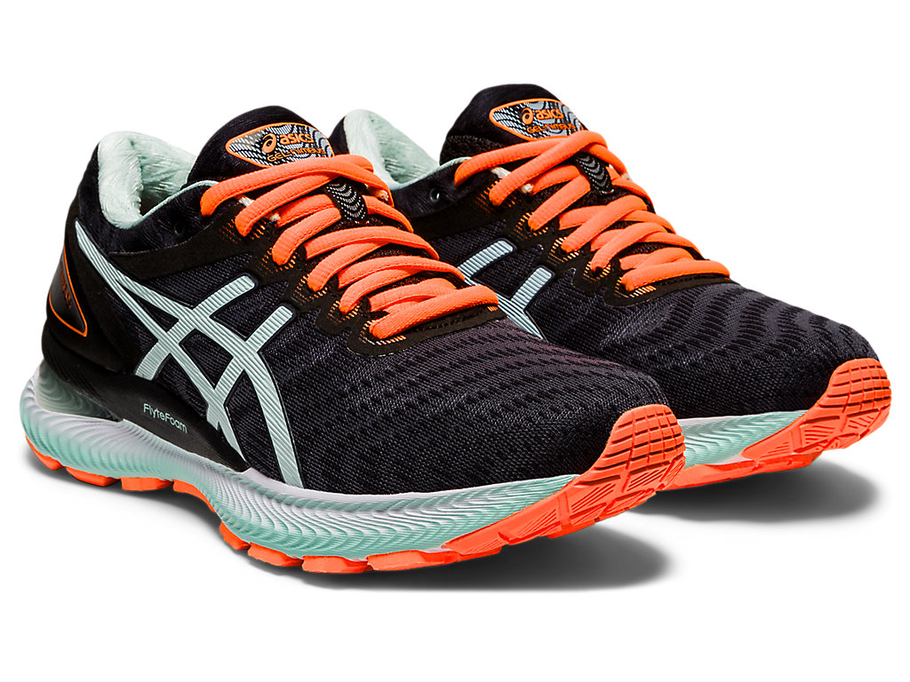 Women's GEL-Nimbus 22 | Black/Bio Mint | Running Shoes | ASICS