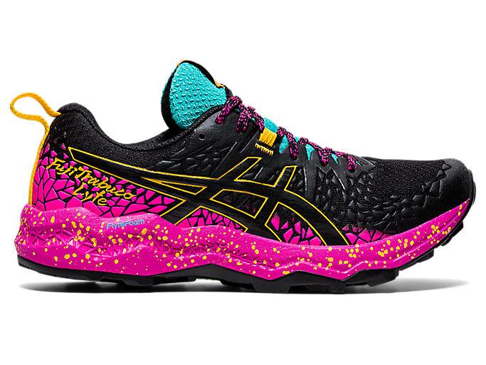 Women's FujiTrabuco Lyte   Black/Pink Glo   Trail Running   ASICS