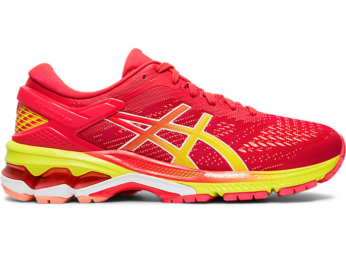 Alternative image view of GEL-KAYANO 26, LASER PINK/SOUR YUZU