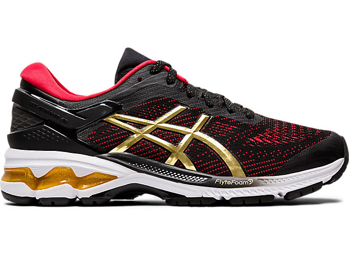 Alternative image view of GEL-KAYANO 26, BLACK/PURE GOLD