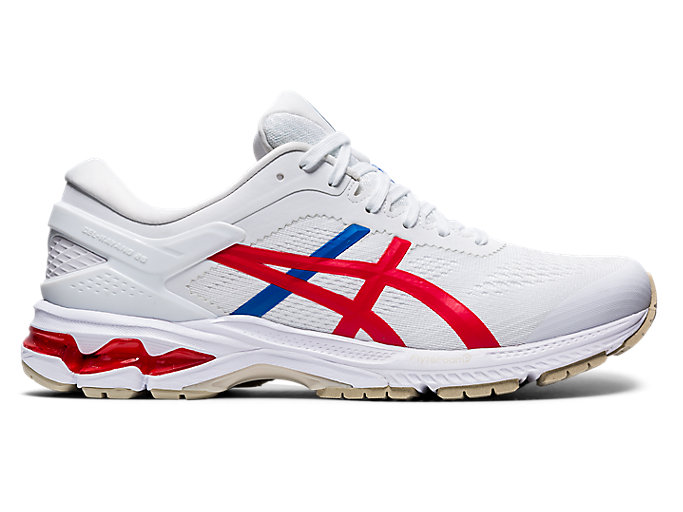 Alternative image view of GEL-KAYANO 26, White/Classic Red