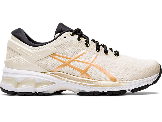 Right side view of GEL-KAYANO 26, BIRCH/CHAMPAGNE