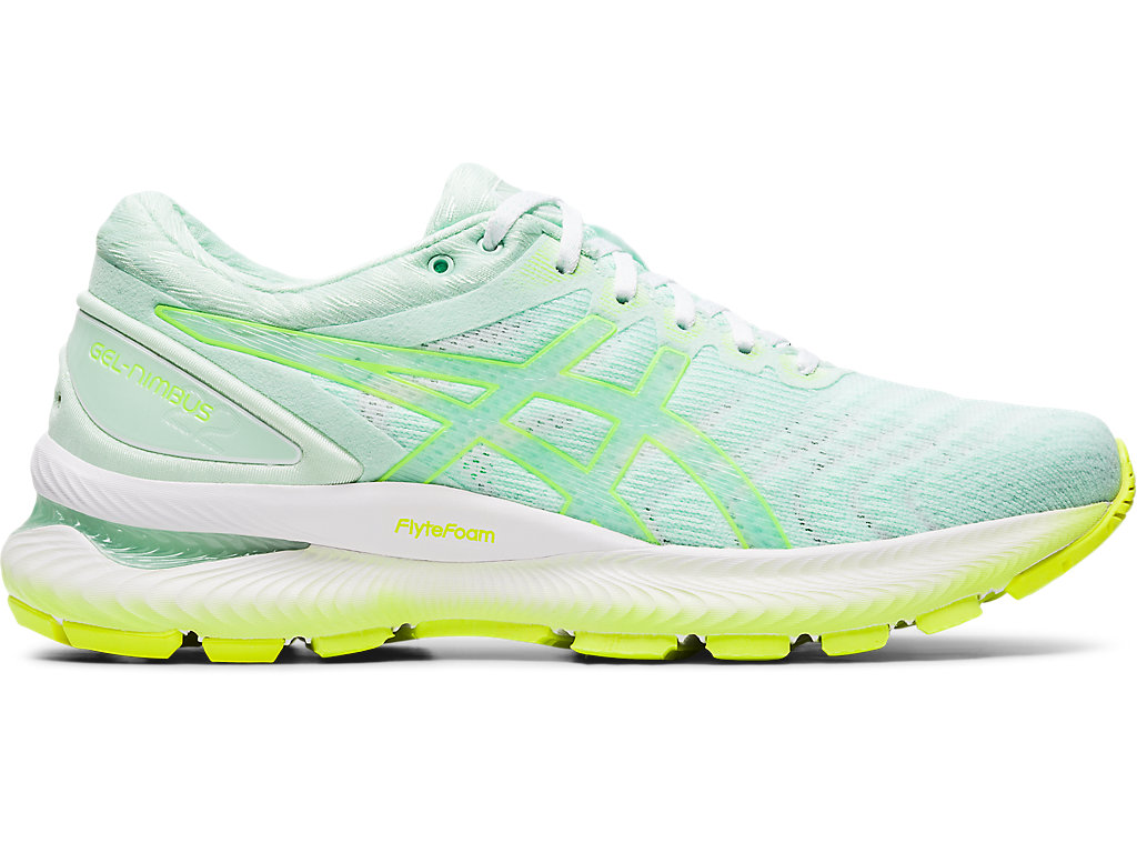 litro Finito una vez  Women's GEL-NIMBUS 22 | MINT TINT/SAFETY YELLOW | Running Shoes | ASICS
