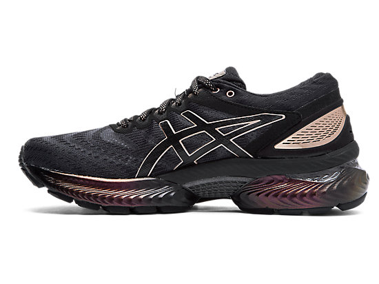 GEL-NIMBUS 22 PLATINUM BLACK/ROSE GOLD