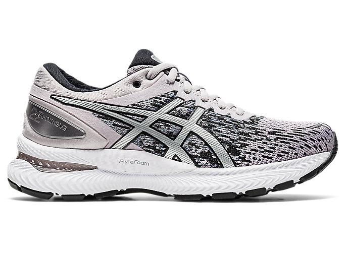 Women's GEL-Nimbus 22 Knit | Haze/Pure Silver | Running Shoes | ASICS