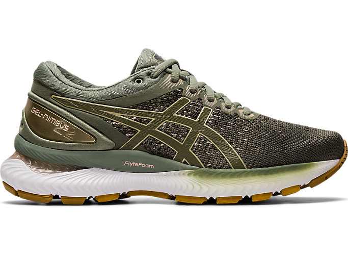 Black Green Sports Asics Mens Gel-Nimbus 22 Running Shoes Trainers Sneakers