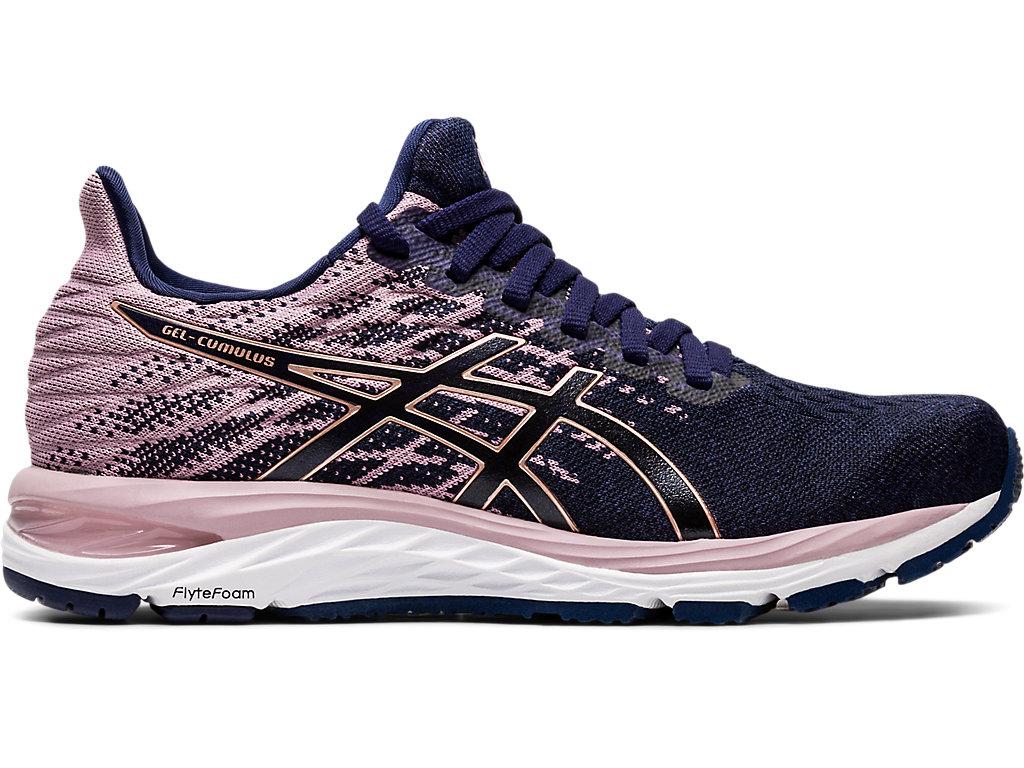 Women's GEL-CUMULUS 21 KNIT | Peacoat/Rose Gold | Running Shoes ...