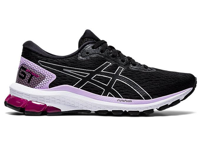 Women's GT-1000 9 (D) | Black/Pure Silver | Running Shoes | ASICS