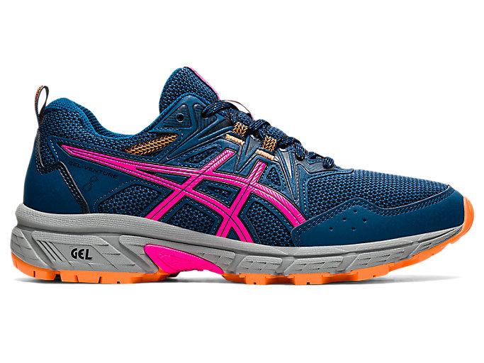 Women's GEL-VENTURE 8 (D)   Mako Blue/Pink Glo   Trail Running   ASICS