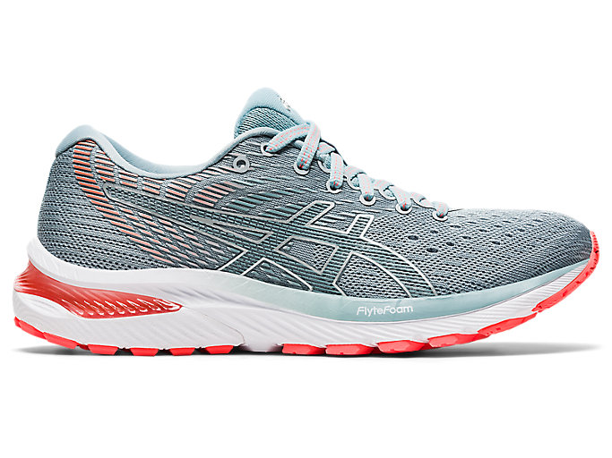 Women's GEL-CUMULUS 22 (D) | Piedmont Grey/Light Steel | Running ...