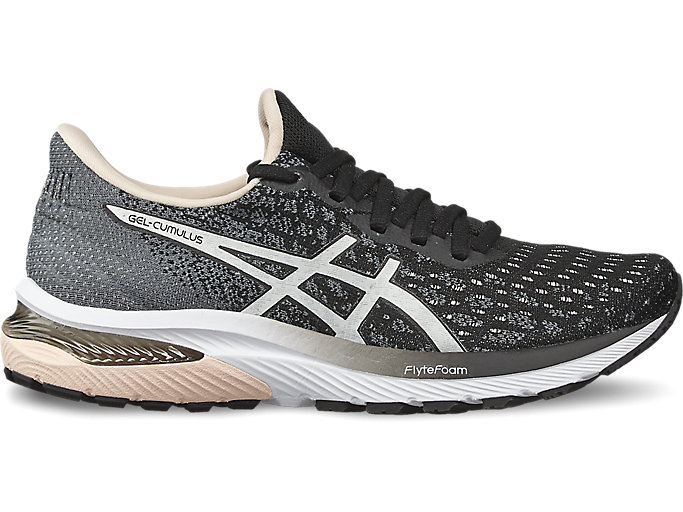Women's GEL-CUMULUS 22 KNIT | Black/White | Running Shoes | ASICS