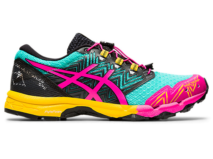 Women's GEL-FUJITRABUCO | Sea Glass/Pink Glo | Trail Running | ASICS