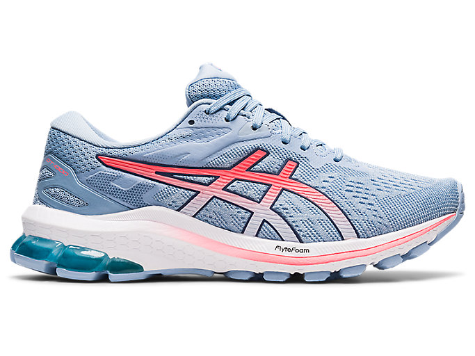 Women's GT-1000 10 | Soft Sky/Blazing Coral | Running Shoes | ASICS