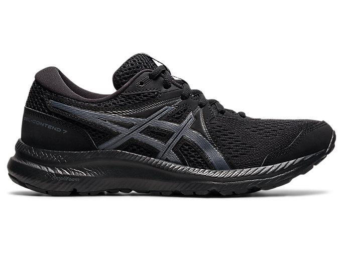 Women's GEL-CONTEND 7 | Black/Carrier Grey | Running Shoes | ASICS