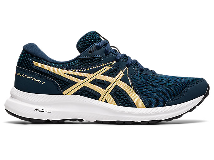 Women's GEL-CONTEND 7   French Blue/Champagne   Running Shoes   ASICS