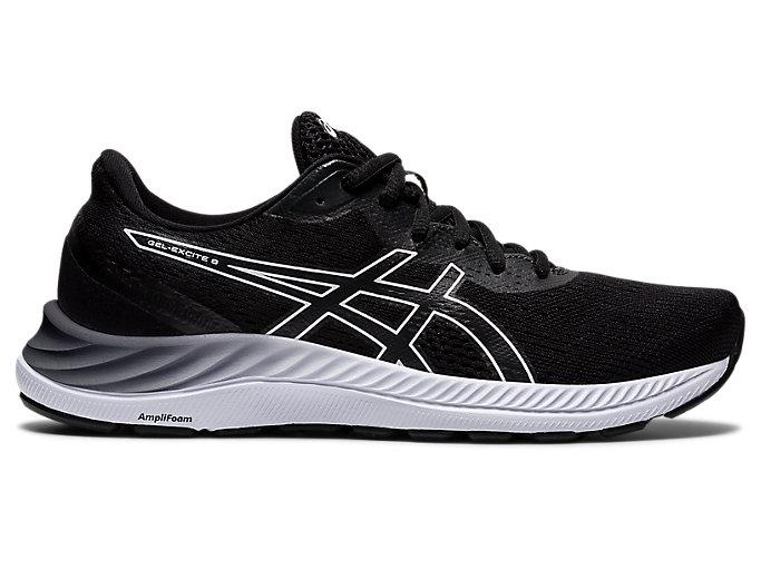 Women's GEL-EXCITE 8 | Black/White | Running Shoes | ASICS