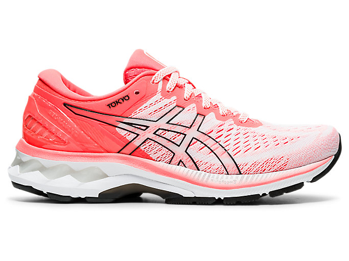 Women's GEL-KAYANO 27 TOKYO | White/Sunrise Red | Running Shoes ...