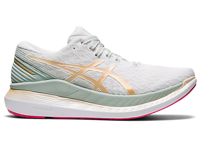Women's GLIDERIDE 2   White/Champagne   Running Shoes   ASICS