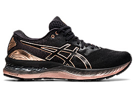 ASICS Gel - Nimbus? 23 Platinum Black / Rose Gold Mujer