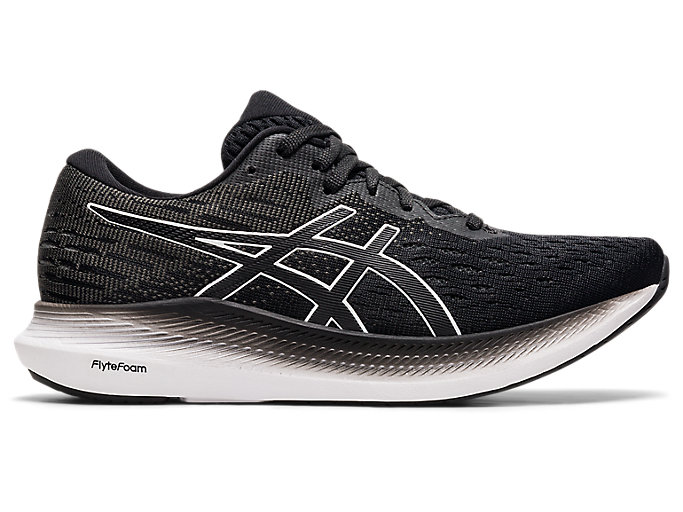 Women's EVORIDE 2 (D)   Black/White   Running Shoes   ASICS