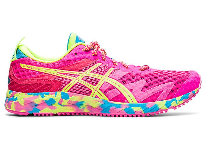 Women's GEL-NOOSA TRI 12 | Pink Glo/Safety Yellow | Run Faster | ASICS
