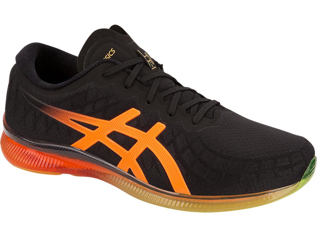 Unisex GEL-QUANTUM INFINITY   Black/Shocking Orange   Sportstyle ...