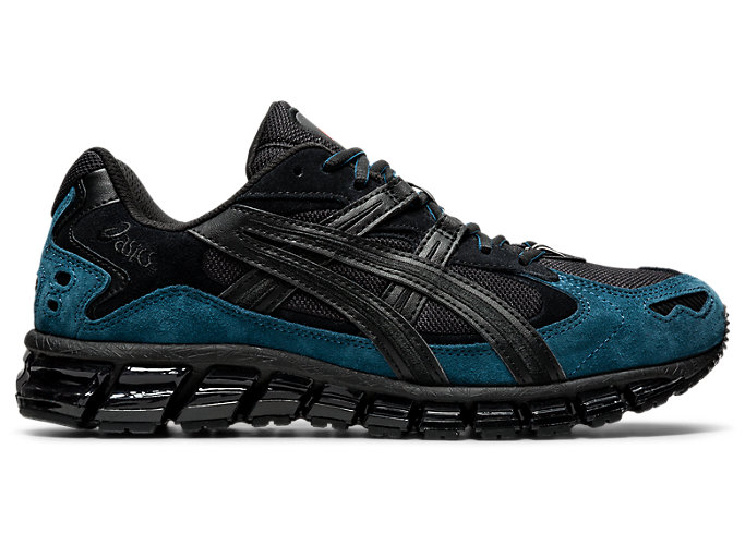 Right side view of GEL-KAYANO 5 360, BLACK/MAGNETIC BLUE