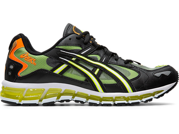 Right side view of GEL-KAYANO 5 360, BLACK/SAFETY YELLOW