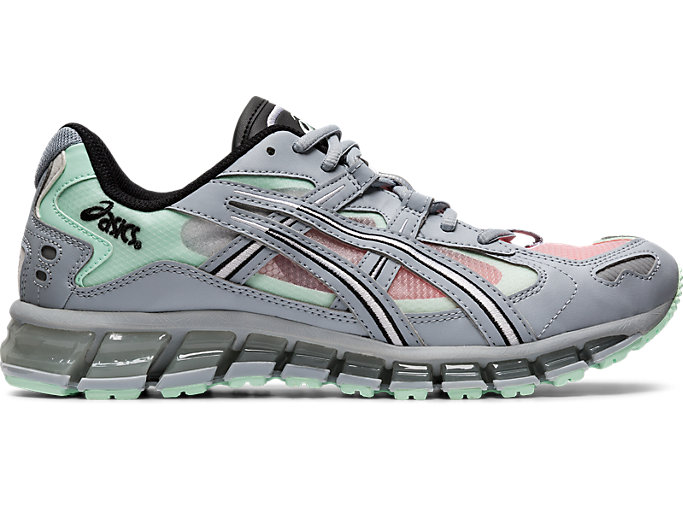 Right side view of GEL-KAYANO 5 360, PIEDMONT GREY/MINT TINT