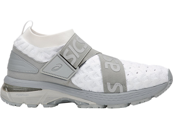 Right side view of GEL-KAYANO 25 OBI, WHITE/MID GREY