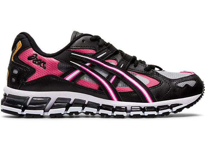 Right side view of GEL-KAYANO 5 360, BLACK/HOT PINK