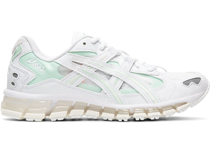 Right side view of GEL-KAYANO 5 360, WHITE/MINT TINT
