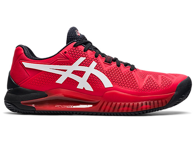 Men's GEL-RESOLUTION 8 CLAY | Electric Red/White | Tennis | ASICS