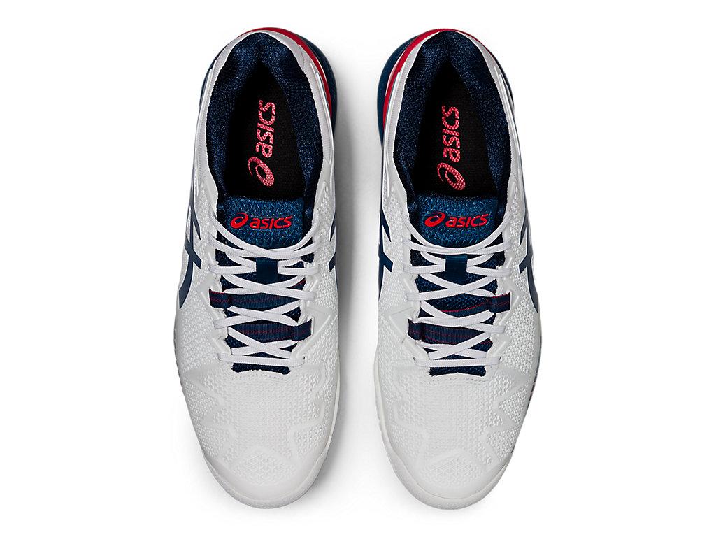 Men's GEL-Resolution 8 | White/Mako Blue | Tennis | ASICS