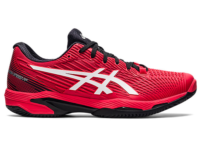 Men's SOLUTION SPEED FF 2 CLAY | Electric Red/White | Tennis | ASICS