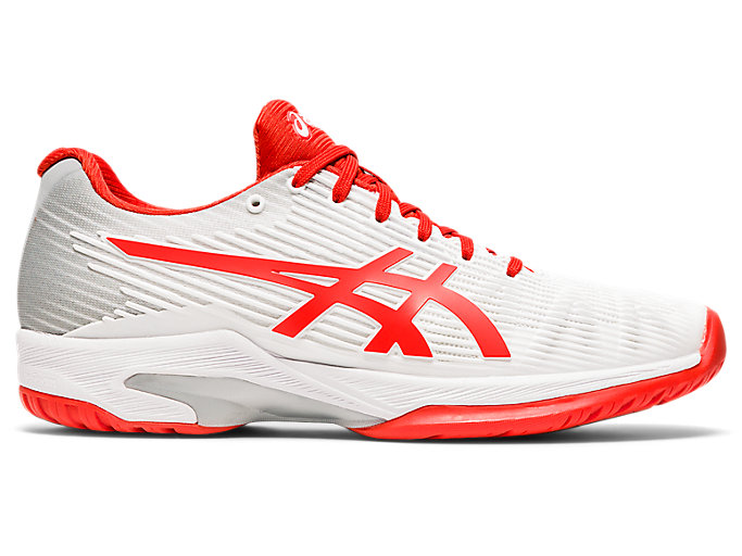 Women's SOLUTION SPEED FF   White/Fiery Red   Tennis   ASICS