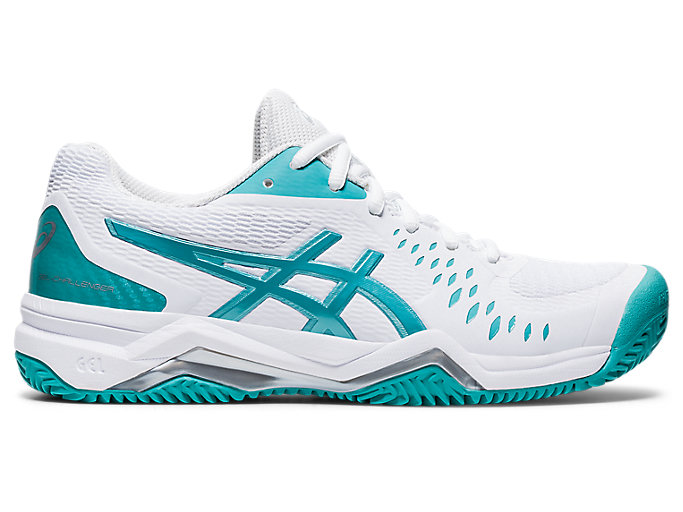 Alternative image view of GEL-CHALLENGER™ 12 CLAY, White/Techno Cyan