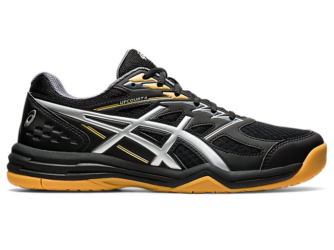 Men's UPCOURT 4 | Black/Pure Silver | Volleyball | ASICS