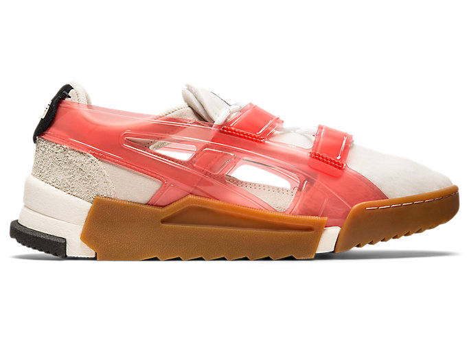 Alternative image view of BIG LOGO RUNNER SANDAL, Cream/Fiery Red