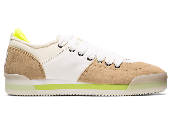 Alternative image view of KAMO TRAINER, WHITE/WOOD CREPE