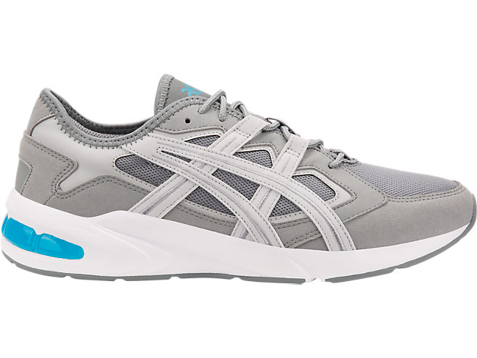 Right side view of GEL-KAYANO 5.1, STONE GREY/GLACIER GREY