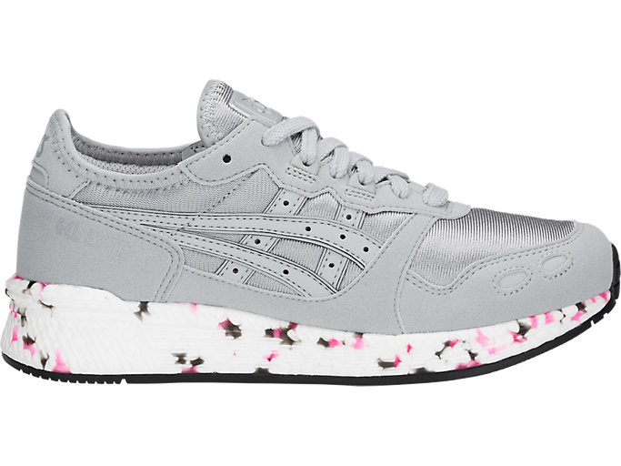 Right side view of HYPER GEL-LYTE GS, MID GREY/MID GREY