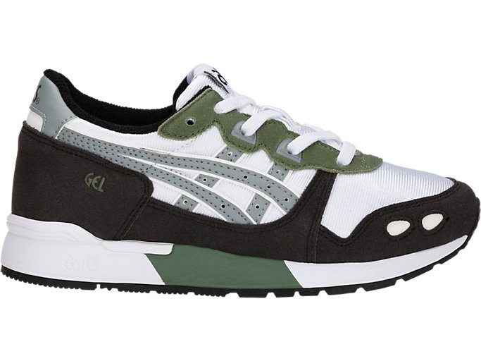 Right side view of GEL-LYTE PS, WHITE/STONE GREY