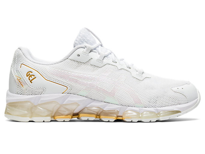 Right side view of GEL-QUANTUM 360 6, WHITE/PURE GOLD
