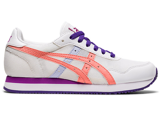Alternative image view of TIGER RUNNER GS, White/Guava