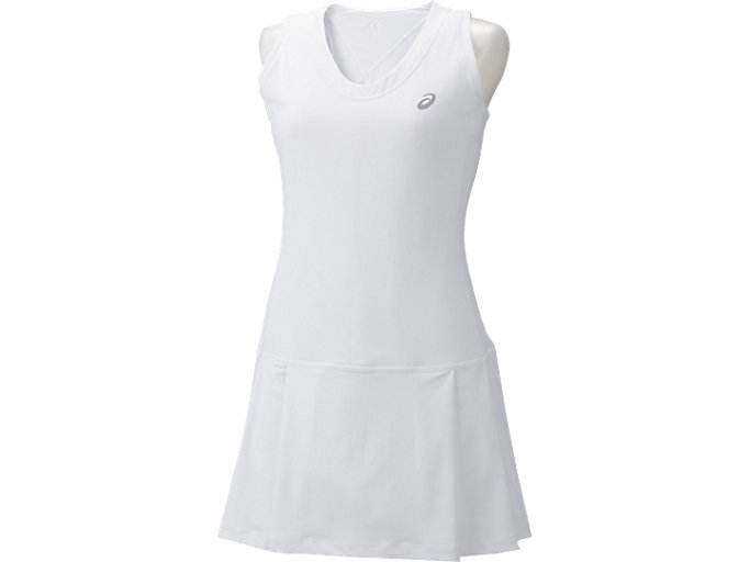 Front Top view of CLUB DRESS, REAL WHITE
