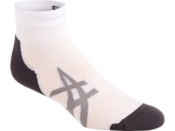 Front Top view of 2PPK CUSHIONING SOCK, REAL WHITE