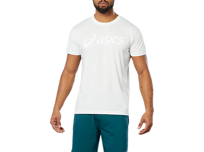 Alternative image view of SPORT LOGO TEE, SPROUT GREEN HEATHER/ WHITE